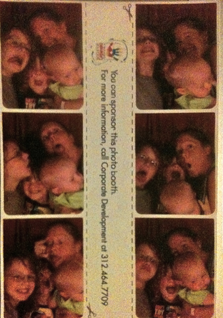 Family in the Photobooth